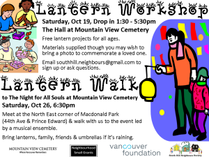 Lantern Workshop & Walk 2013 Poster